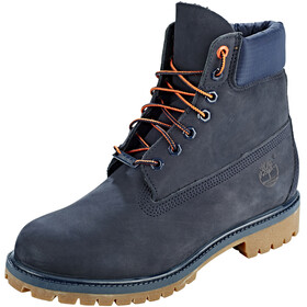 "Timberland Icon Collection Premium Boots Men 6"" Navy Nubuck"